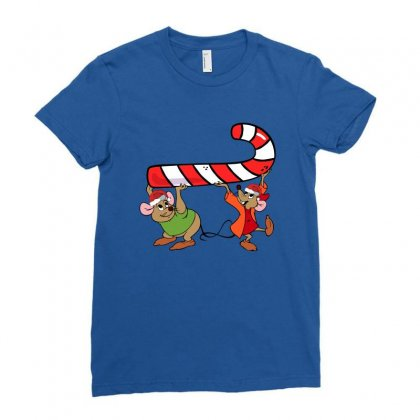 Jaq And Gus Christmas Sugar Ladies Fitted T-shirt Designed By Sengul