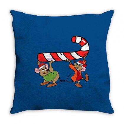Jaq And Gus Christmas Sugar Throw Pillow Designed By Sengul