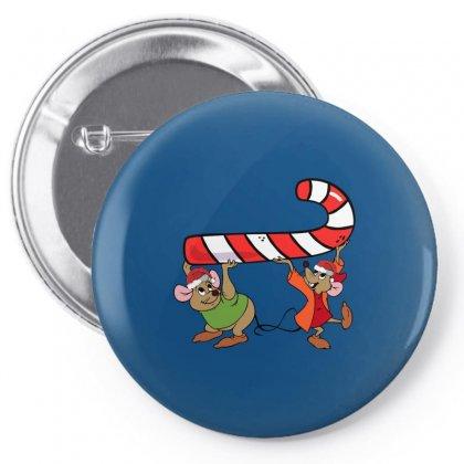 Jaq And Gus Christmas Sugar Pin-back Button Designed By Sengul