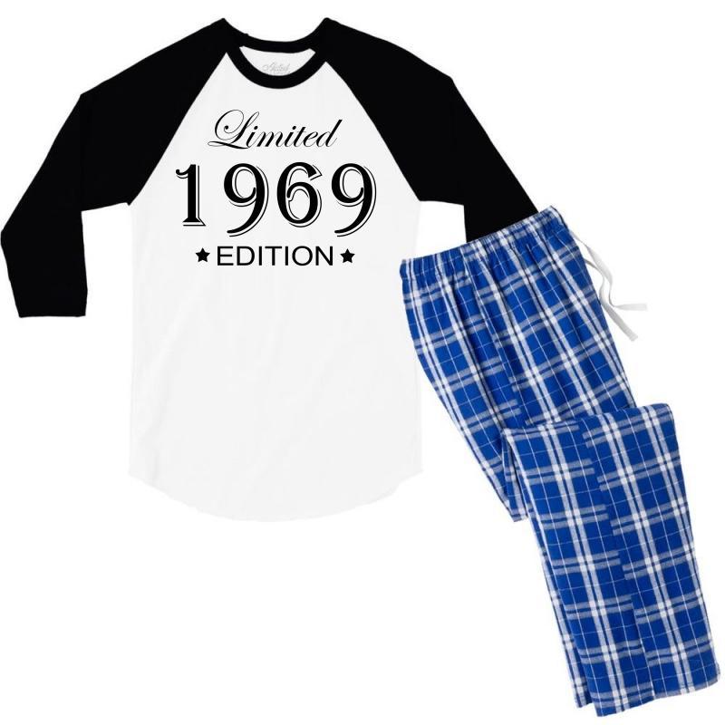 Limited Edition 1969 Men's 3/4 Sleeve Pajama Set   Artistshot