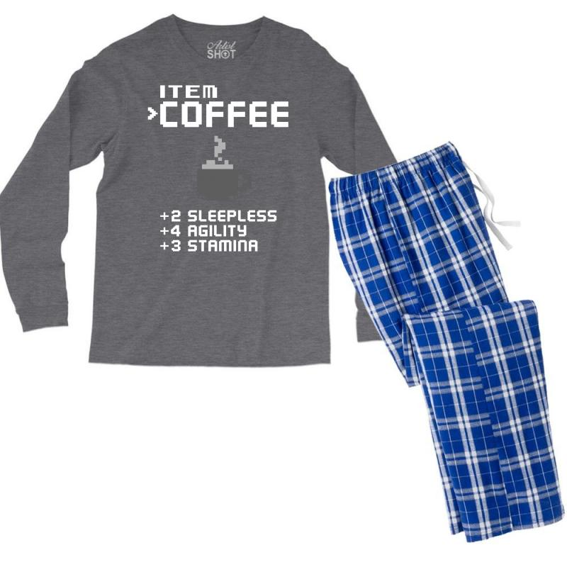 Facts Of Coffee Men's Long Sleeve Pajama Set | Artistshot