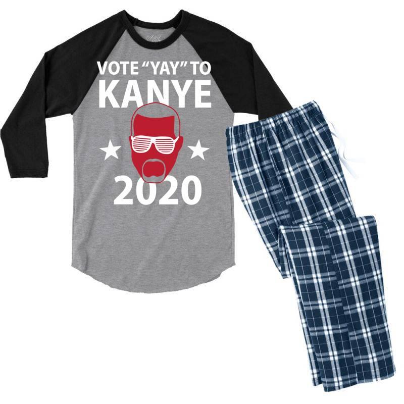Kanye 2020 Men's 3/4 Sleeve Pajama Set | Artistshot