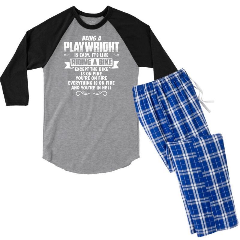 Being A Playwright Men's 3/4 Sleeve Pajama Set   Artistshot