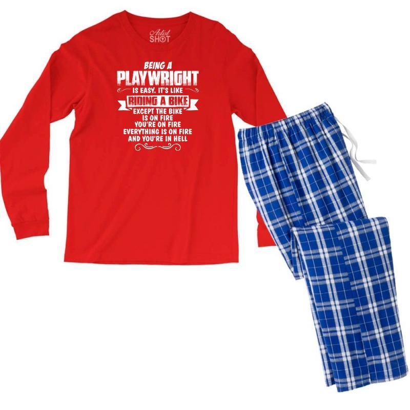 Being A Playwright Men's Long Sleeve Pajama Set   Artistshot