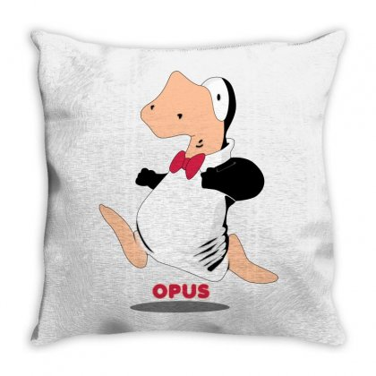 Opus Penguin Throw Pillow Designed By Shoptee