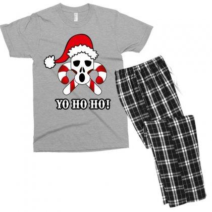 Yo Ho Ho Pirate Christmas Men's T-shirt Pajama Set Designed By Wizarts