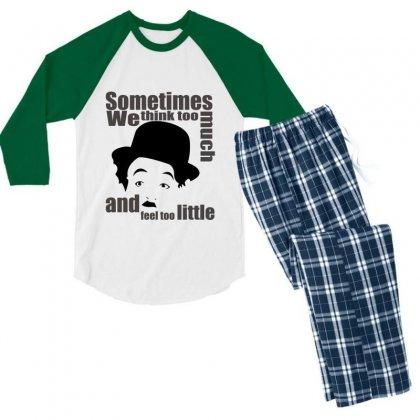 Charlie Chaplin Men's 3/4 Sleeve Pajama Set Designed By Yudyud