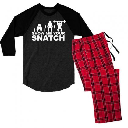 Crossfit Show Me Your Snatch Men's 3/4 Sleeve Pajama Set Designed By Narayatees