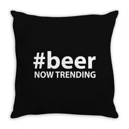 #beer Now Trending Throw Pillow Designed By Tee Shop