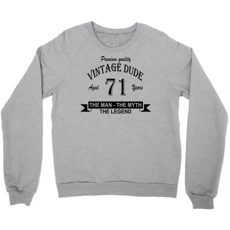 Aged 71 Years Crewneck Sweatshirt | Artistshot