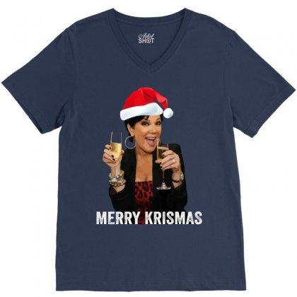 Merry Krismas Kris Jenner V-neck Tee Designed By Sengul
