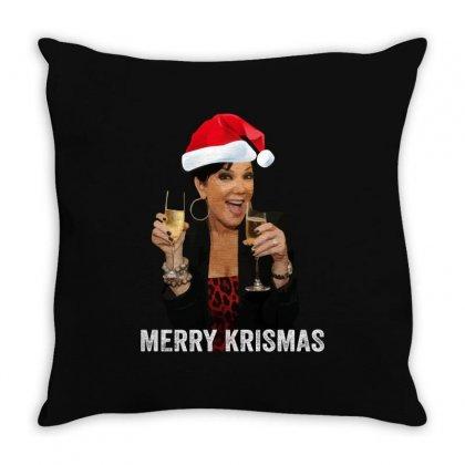 Merry Krismas Kris Jenner Throw Pillow Designed By Sengul