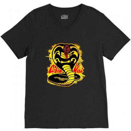 Cobra Kai V-neck Tee Designed By Uptosign