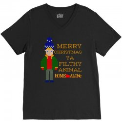 merry christmas ya filthy animal home alone V-Neck Tee   Artistshot