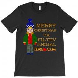 merry christmas ya filthy animal home alone T-Shirt   Artistshot
