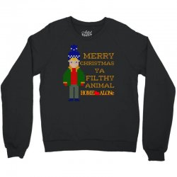 merry christmas ya filthy animal home alone Crewneck Sweatshirt   Artistshot