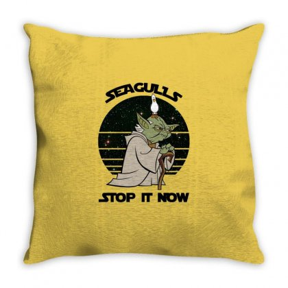 Seagulls Stop It Now Throw Pillow Designed By Zeynepu