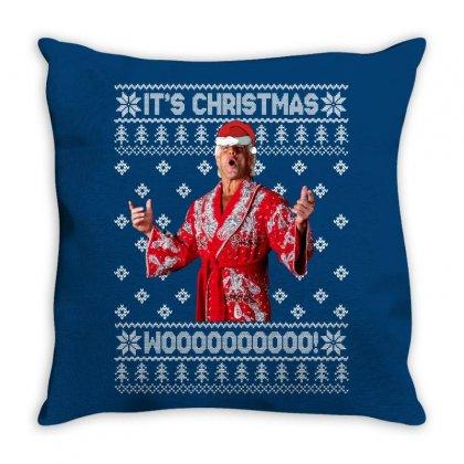 Ric Flair Christmas Ugly Throw Pillow Designed By Sengul