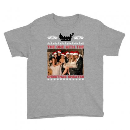 Friends Tv Show Ugly Christmas Youth Tee Designed By Sengul