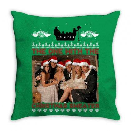 Friends Tv Show Ugly Christmas Throw Pillow Designed By Sengul