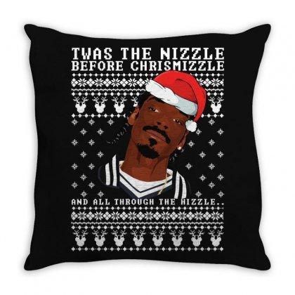 Snoop Dogg Christmas Ugly Throw Pillow Designed By Sengul