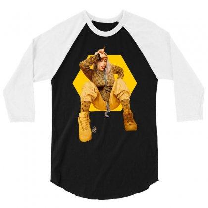 Billie Eilish 3/4 Sleeve Shirt Designed By Zeynepu