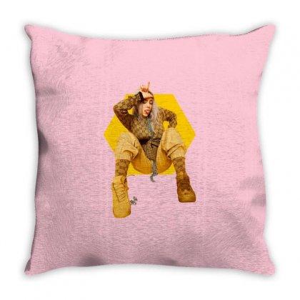 Billie Eilish Throw Pillow Designed By Zeynepu
