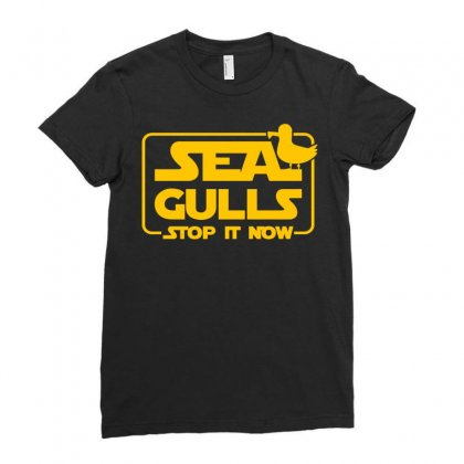 Seagulls Stop It Now Ladies Fitted T-shirt Designed By Zeynepu