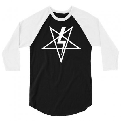 Anton Szandor Lavey Sigil 3/4 Sleeve Shirt Designed By Mdk Art