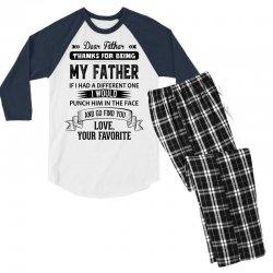 Dear Father, Love, Your Favorite Men's 3/4 Sleeve Pajama Set   Artistshot