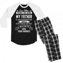 Dear Father, Love, Your Favorite Men's 3/4 Sleeve Pajama Set | Artistshot