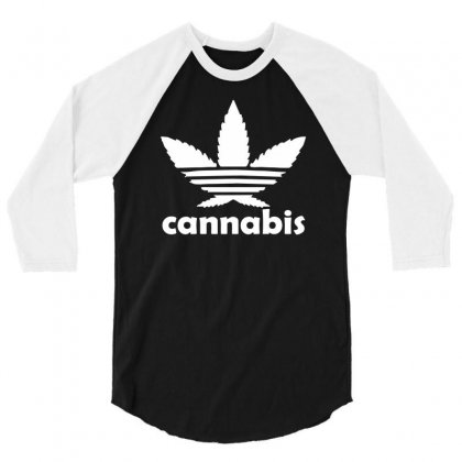Cannabis 3/4 Sleeve Shirt Designed By Mdk Art