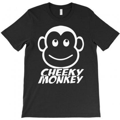 Cheeky Monkey Funny T-shirt Designed By Mdk Art