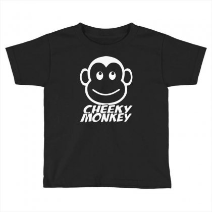 Cheeky Monkey Funny Toddler T-shirt Designed By Mdk Art