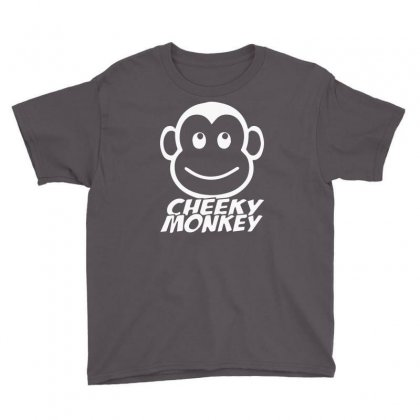 Cheeky Monkey Funny Youth Tee Designed By Mdk Art