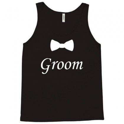 Groom Bow Tie, Wedding Tank Top Designed By Mdk Art