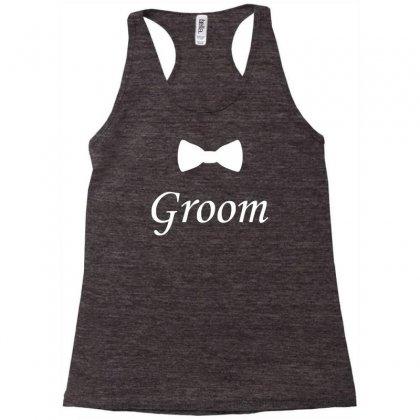 Groom Bow Tie, Wedding Racerback Tank Designed By Mdk Art