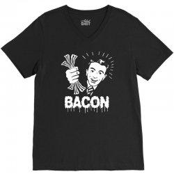 love bacont fun ny V-Neck Tee | Artistshot