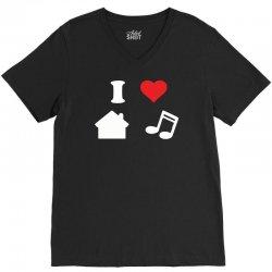 love house music funny V-Neck Tee   Artistshot