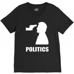 politics V-Neck Tee | Artistshot
