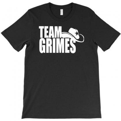 Team Grimes Walking Dead T-shirt Designed By Tonyhaddearts