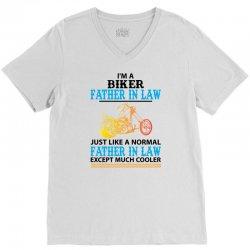 Biker Father In Law... V-Neck Tee   Artistshot