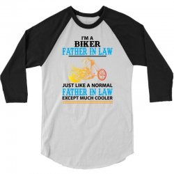 Biker Father In Law... 3/4 Sleeve Shirt   Artistshot