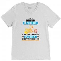 Biker Father... V-Neck Tee   Artistshot