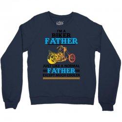 Biker Father... Crewneck Sweatshirt   Artistshot