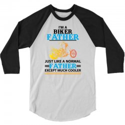 Biker Father... 3/4 Sleeve Shirt   Artistshot