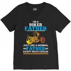 Biker Father... V-Neck Tee | Artistshot