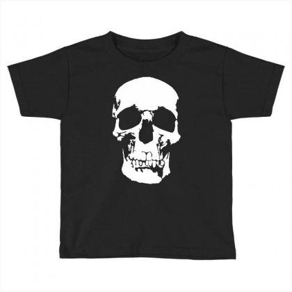 Tone Skull Toddler T-shirt Designed By Mdk Art
