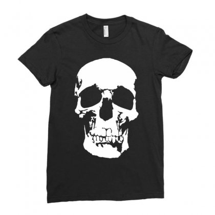 Tone Skull Ladies Fitted T-shirt Designed By Mdk Art