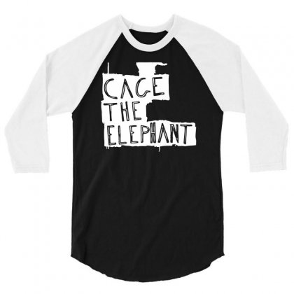Cage The Elephant Logo 3/4 Sleeve Shirt Designed By Jerry